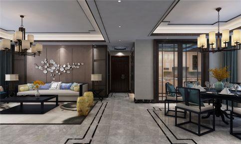 179平米新中式风格装修 中式风格四房装修效果图