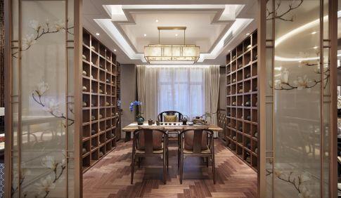 杭州君临天下别墅装修 中式别墅装修设计案例