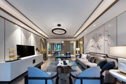 杭州天禧公馆装修 中式风格四房装修设计效果图