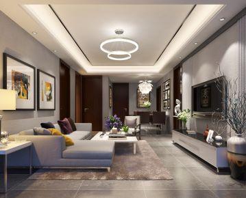 120平米现代风格三居室装修 现代风格家庭装修案例