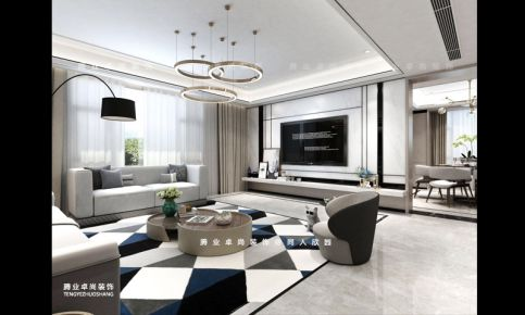 同人欣园三房装修设计 现代风格家庭装修效果图
