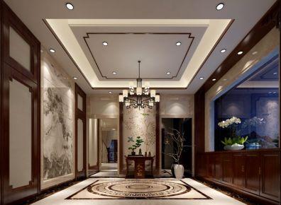 东莞城市山谷别墅装修 中式风格别墅装修设计