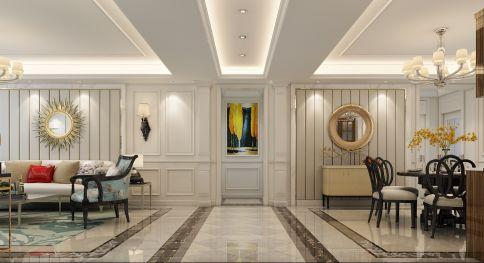 现代美式四居室装修 现代美式风格家庭装修效果图