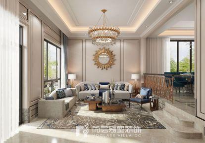 同方国际600方现代美式风格别墅装修设计效果图