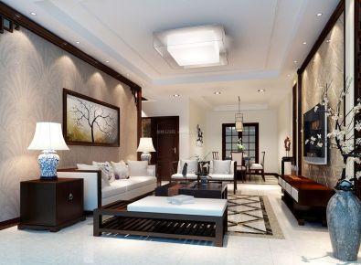 新中式风格别墅装修设计 中式别墅装修效果图