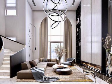 400方东方御府现代都市风格装修设计效果图