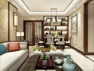 『西安』公元府邸  三居室新中式装修效果图