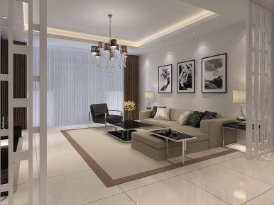 『西安』乾基九境城  两居室现代装修效果图
