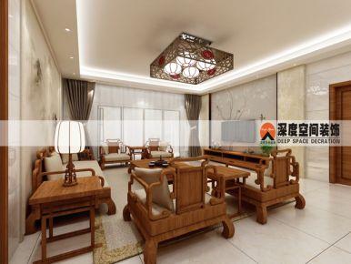 惠州合生愉景花园 中式风格四房装修效果图