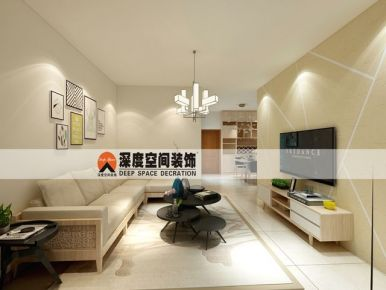惠州沥林镇御林苑 简约风格两房一厅装修效果图
