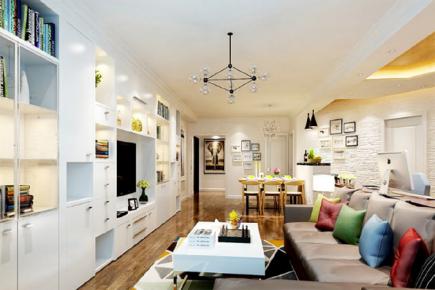 东花市北里中区三房装修  现代风格室内装修效果图