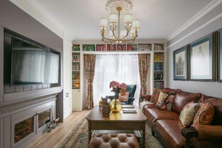龙河枫景美式装修 美式风格三房装修设计