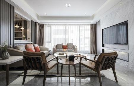 四季花语家庭装修 现代风格三房装修设计效果图