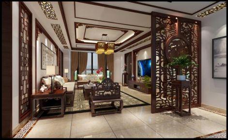 东方禅境别墅装修设计 中式风格别墅装修效果图