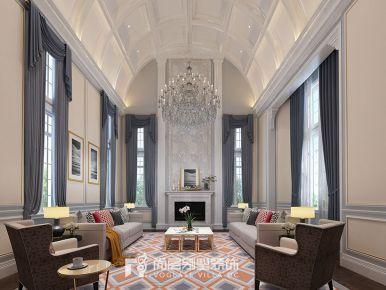 凤凰国际千方别墅现代简美风格装修设计效果图