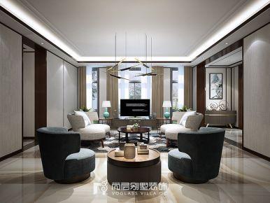 官河锦庭|400方现代新中式风格装修设计案例