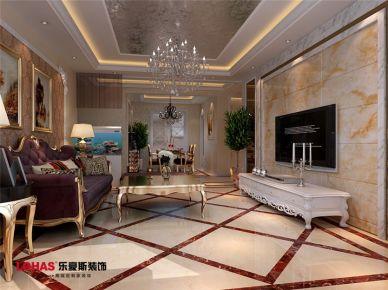 120平简欧装修设计 简欧风格家庭装修效果图