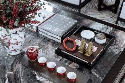 中国红中式风格别墅装修设计