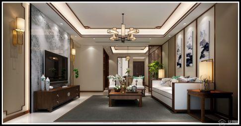 中式风格四居室装修 中式风格家庭装修效果图