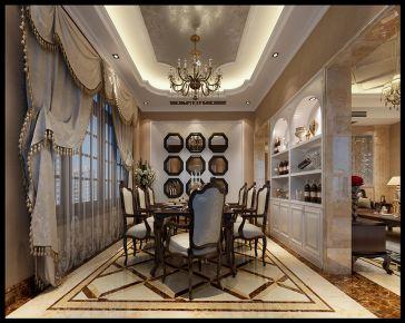 欧陆风尚 美式风格别墅装修设计效果图