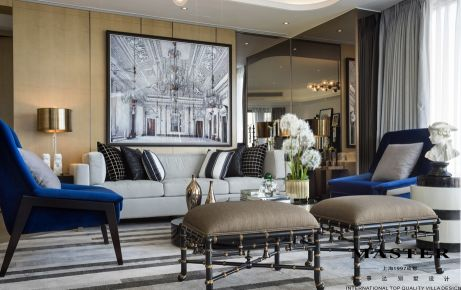 成都武侯区麓山国际 美式风格四房装修设计效果图