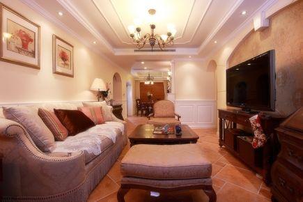 93平新中式温馨家装案例 中式风格三房装修效果图