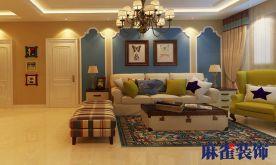 哈尔滨盛和天地人和 美式风格三房装修效果图