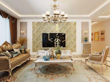 简约欧式风格四居室装修案例