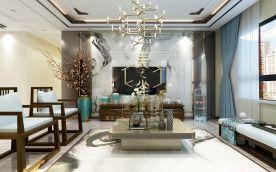 新中式风格三居室装修案例