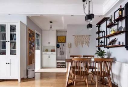 西安-保利心语花园美式风格三居室装修案例