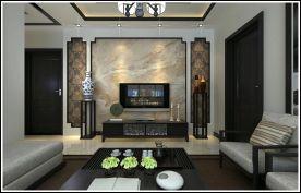 中式风格三居室装修案例