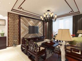 中式两居室装修效果图