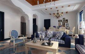 龙阳一号-地中海-三居室装修案例