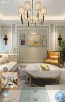 横浦锦苑1栋1303美式风格三居室装修案例