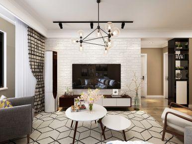 水清花都现代风格三居室装修案例