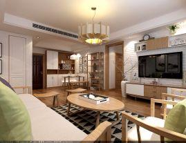 金泽人才公寓中式风格三居室装修案例