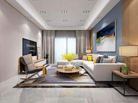保利心语现代风格两居室装修案例