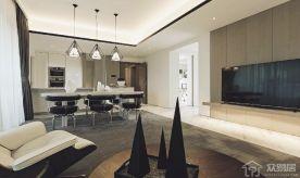 嘉兴翡翠公馆 欧式风格三房装修设计效果图