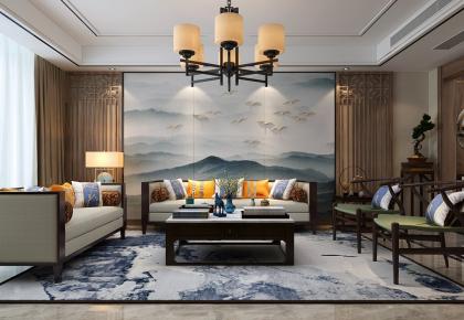 金华上田小区 中式风格三房装修设计