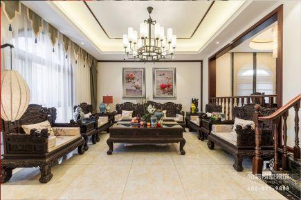 新中式风格别墅装修实景图案例