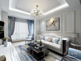 东鼎李美女的家欧式风格两房装修设计效果图