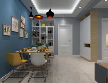 聚英公寓两室装修设计 两居室现代风格装修平面图