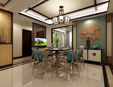 新中式混搭风格家庭装修 新中式混搭三房装修案例