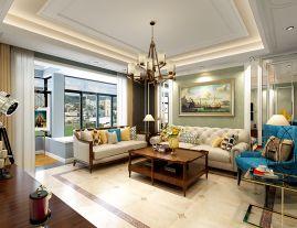 西安紫汀苑小区 美式风格家庭装修设计