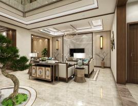 新中式风格别墅设计图 新中式风格别墅装修案例