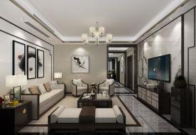 杭州富春壹号院-新中式150平米家庭装修效果图