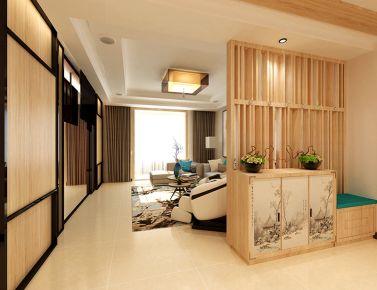 黄陵机电公司小区 日式风格家庭装修设计效果图
