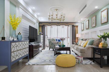 廊坊上城雅园 美式风格三房装修效果图欣赏