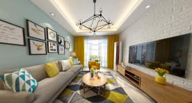北欧·惬意生活 三居室北欧风格装修设计