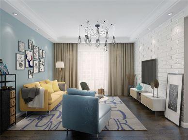 贵阳观山左岸 三居室北欧风格装修效果图欣赏